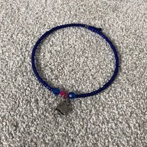 Other - 💕 Blue beaded necklace with piano charm